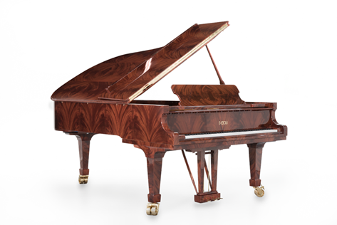 piano em Mogno Africano